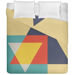 Form Abstract Modern Color Duvet Cover Double Side (california King Size) by AnjaniArt