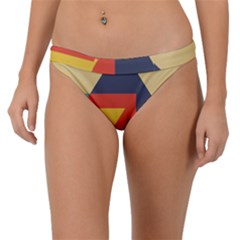 Form Abstract Modern Color Band Bikini Bottom