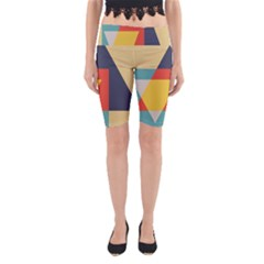 Form Abstract Modern Color Yoga Cropped Leggings by AnjaniArt