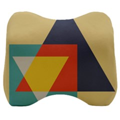 Form Abstract Modern Color Velour Head Support Cushion