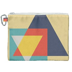 Form Abstract Modern Color Canvas Cosmetic Bag (xxl)