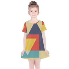 Form Abstract Modern Color Kids  Simple Cotton Dress