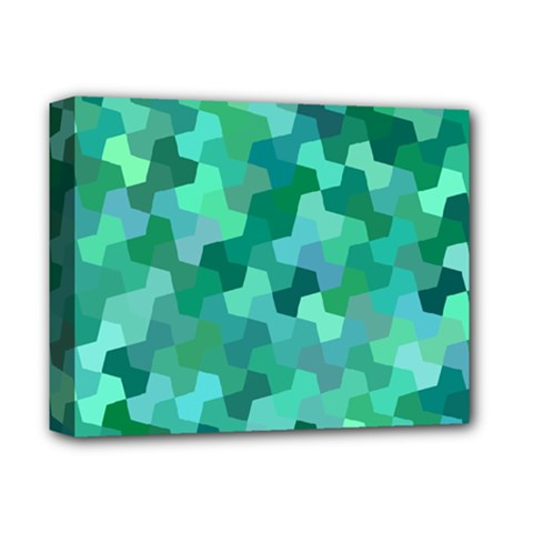 Green Mosaic Geometric Background Deluxe Canvas 14  X 11  (stretched) by AnjaniArt
