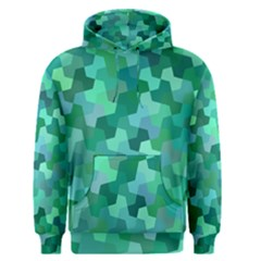 Green Mosaic Geometric Background Men s Pullover Hoodie by AnjaniArt
