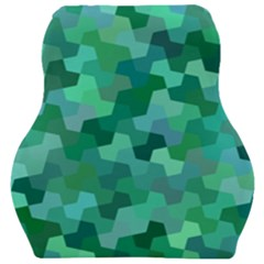 Green Mosaic Geometric Background Car Seat Velour Cushion  by AnjaniArt
