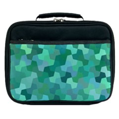 Green Mosaic Geometric Background Lunch Bag by AnjaniArt
