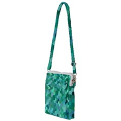 Green Mosaic Geometric Background Multi Function Travel Bag