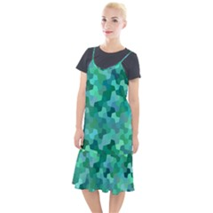 Green Mosaic Geometric Background Camis Fishtail Dress by AnjaniArt