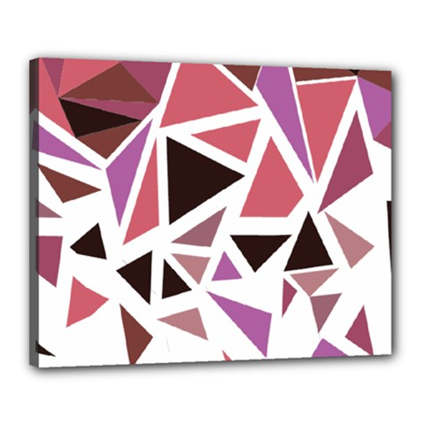 Geometric Elements Canvas 20  X 16  (stretched)