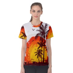 Coconut Tree Women s Cotton Tee by Jojostore