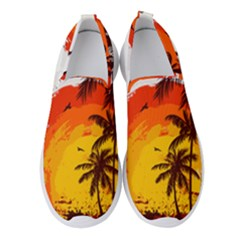 Coconut Tree Women s Slip On Sneakers by Jojostore