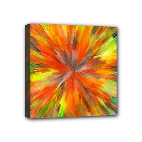 Color Background Structure Lines Space Mini Canvas 4  X 4  (stretched)