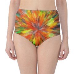 Color Background Structure Lines Space Classic High Waist Bikini Bottoms by Jojostore