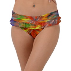 Color Background Structure Lines Space Frill Bikini Bottom by Jojostore