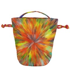 Color Background Structure Lines Space Drawstring Bucket Bag