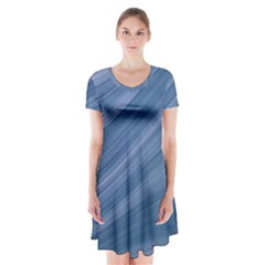 Background Course Abstract Short Sleeve V Neck Flare Dress