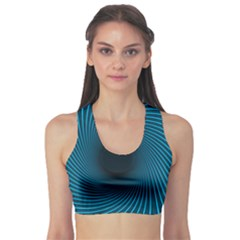 Background Spiral Abstract Sports Bra
