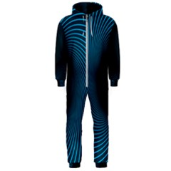 Background Spiral Abstract Hooded Jumpsuit (men)  by Jojostore