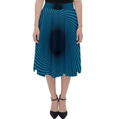 Background Spiral Abstract Classic Midi Skirt