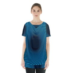 Background Spiral Abstract Skirt Hem Sports Top by Jojostore