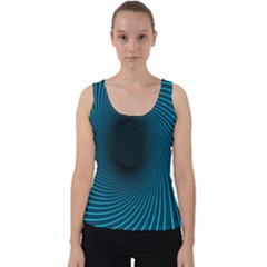 Background Spiral Abstract Velvet Tank Top