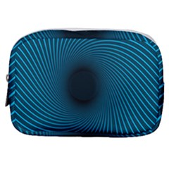 Background Spiral Abstract Make Up Pouch (small)