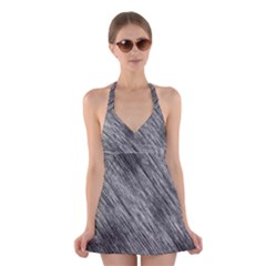 Background Texture Grunge Halter Dress Swimsuit  by Jojostore