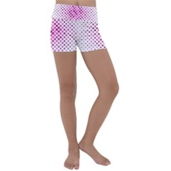 Dot Pattern Circle Pink Kids  Lightweight Velour Yoga Shorts by Jojostore