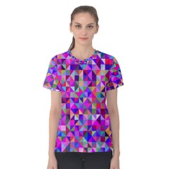 Floor Colorful Colorful Triangle Women s Cotton Tee