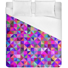Floor Colorful Colorful Triangle Duvet Cover (california King Size) by Jojostore