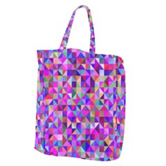 Floor Colorful Colorful Triangle Giant Grocery Tote