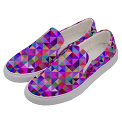 Floor Colorful Colorful Triangle Men s Canvas Slip Ons by Jojostore
