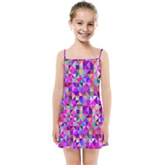 Floor Colorful Colorful Triangle Kids  Summer Sun Dress by Jojostore