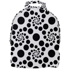 Dots Round Black And White Mini Full Print Backpack by Jojostore