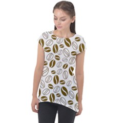 Coffee Beans Vector Cap Sleeve High Low Top