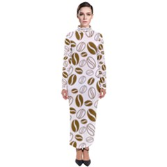 Coffee Beans Vector Turtleneck Maxi Dress by Mariart