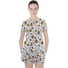 Coffee Beans Vector Women s Tee And Shorts Set by Mariart
