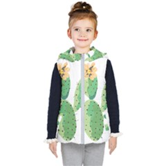 Cactaceae Thorns Spines Prickles Kids  Hooded Puffer Vest
