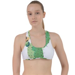 Cactaceae Thorns Spines Prickles Criss Cross Racerback Sports Bra by Mariart