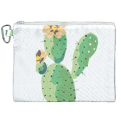 Cactaceae Thorns Spines Prickles Canvas Cosmetic Bag (xxl) by Mariart