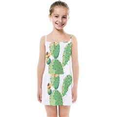 Cactaceae Thorns Spines Prickles Kids  Summer Sun Dress by Mariart