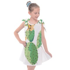 Cactaceae Thorns Spines Prickles Kids  Tie Up Tunic Dress