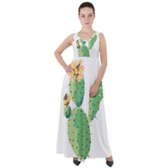 Cactaceae Thorns Spines Prickles Empire Waist Velour Maxi Dress by Mariart