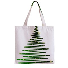 Christmas Tree Spruce Zipper Grocery Tote Bag