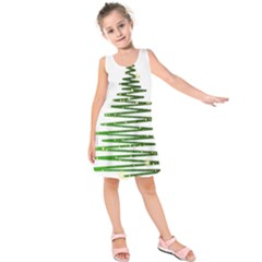 Christmas Tree Spruce Kids  Sleeveless Dress