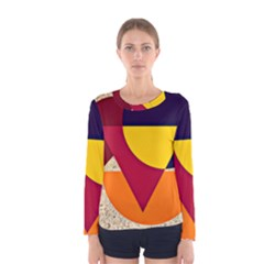 Circle Half Circle Colorful Women s Long Sleeve Tee by Mariart