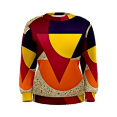 Circle Half Circle Colorful Women s Sweatshirt