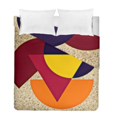 Circle Half Circle Colorful Duvet Cover Double Side (full/ Double Size) by Mariart