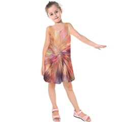 Color Background Structure Lines Kids  Sleeveless Dress by Mariart