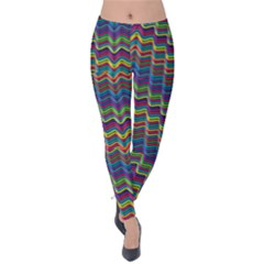 Decorative Ornamental Abstract Wave Velvet Leggings